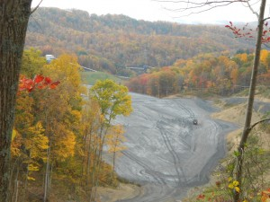 Coal pit after mountain top removal.