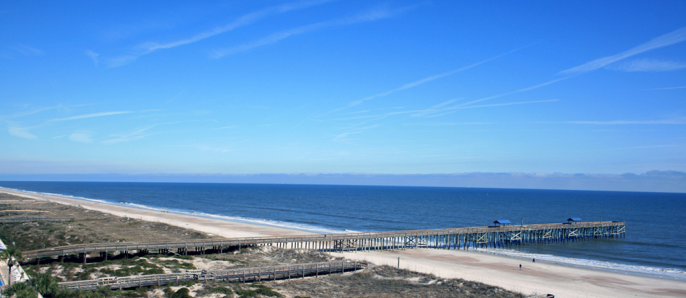 The Atlantic Ocean from the balcony on Amelia Island