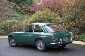 1969 MGB GT in British Racing Green