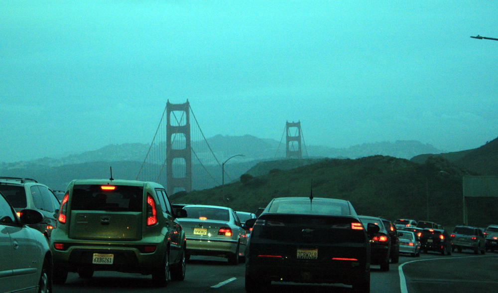 Traffic going into San Francisco.