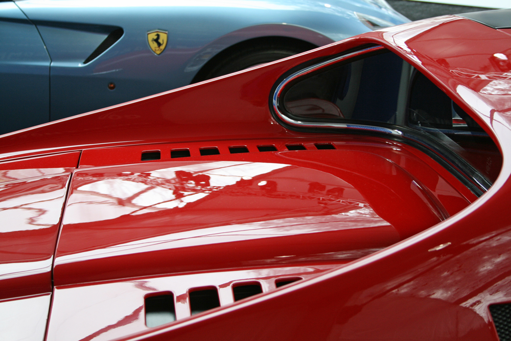 Ferrari, detail of 1972 Dino 246 GTS